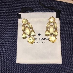 Crystal chandelier kate spade earrings
